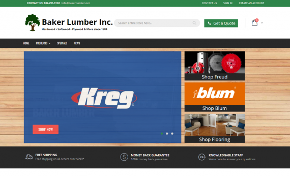 baker lumber cpc portfolio image 1