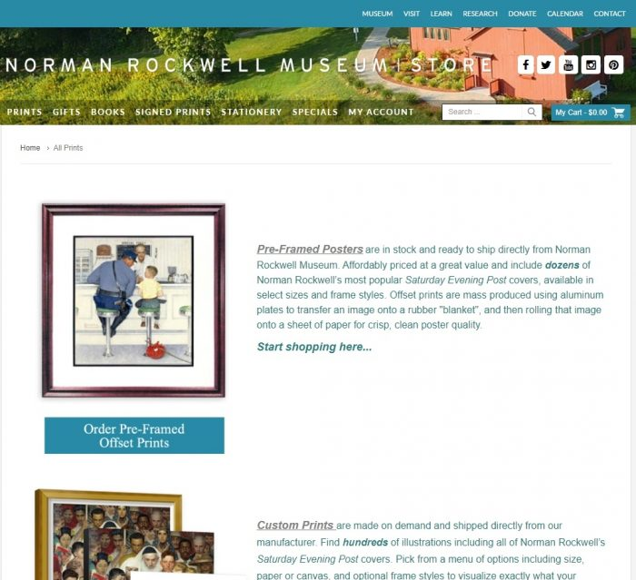 Norman Rockwell CP Commerce Integration Portfolio Image